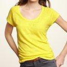 NWT Gap Bright Yellow Tri-blend Soft Slub Knit Scoopneck Raglan Tee T-Shirt M L
