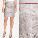 NWT Kenneth Cole New York Beige Gray Taupe Snake Print Pencil Skirt USD80 M 10 P