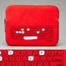 NWT Kate Spade Red White Black Whimsical Keyboard Print iPad Neoprene Sleeve