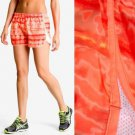 Under Armour Running Shorts Escape Print in Neon Orange Yellow Rush NWT USD35 L