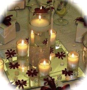 Set Of 5 Cylinder Glass Vase Votive Candle Centerpiece