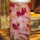 1 Orchids Glass Vase Wedding Reception Table Centerpieces - Custom Made to Order