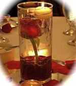 1 Rose Wedding Reception Glass Cylinder Vase Table Centerpieces