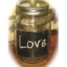 12 Chalkboard Mason Jars Wedding Reception Table Centerpieces