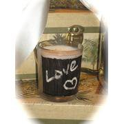 24 Chalkboard Votive Candles - Wedding Reception Favors - Custom Made To Order