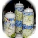 3 Piece Set Hydrangeas Wedding Reception Table Centerpiece - Custom Made To Order