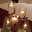 Set Of 3 Wedding Reception Glass Vase Table Centerpiece Set - Custom Made To Order