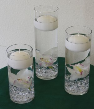 36 Piece Set Orchids Wedding Reception Table Centerpiece - Custom Made To Order