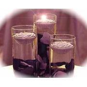 36 Piece Set Rose Petals & Floating Candles Wedding Reception Table Centerpiece