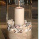 10 Piece Set - Beach Theme Glass Vase Wedding Reception Table Centerpieces - Custom Made to Order