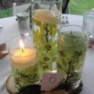 3 Piece Set Orchids Wedding Reception Table Centerpiece - Custom Made To Order