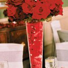 6 Deluxe Rose Glass Vase Wedding Reception Table Centerpieces - Custom Made to Order