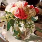 12 Peonies & Hydrangeas Glass Vase Wedding Reception Table Centerpieces - Custom Made to Order