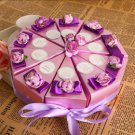 Purple Flower Cake Favor Box (Set of 10)