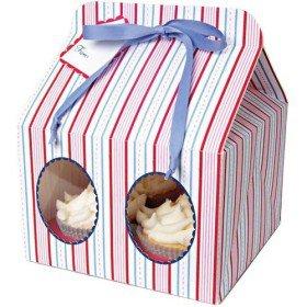Striped Cake Box (Set of 12)