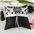 White and Black Florish Ring Pillow