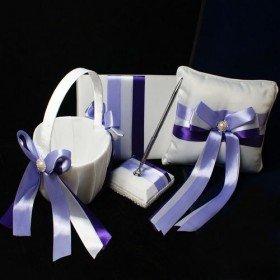 Lilac Ribbon Wedding Collection (4 Piece Set