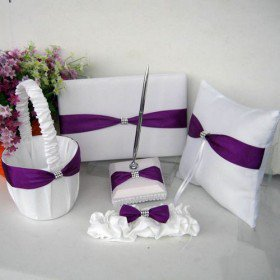 Theme Wedding Collection Lilac Ribbons in Clear Display Box (5 Piece Set)