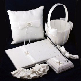 """Love Ever Lasting"" White Wedding Ceremony Collection (Six Piece Set)"