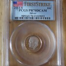2011s PCGS PR70 DCAM SILVER FIRST STRIKE ROOSEVELT  DIME