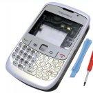 White Blackberry 8520 full housing faceplate fascia New