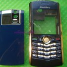 FULL BLACKBERRY 8100 HOUSING SHELL FACEPLATE CASE BLUE