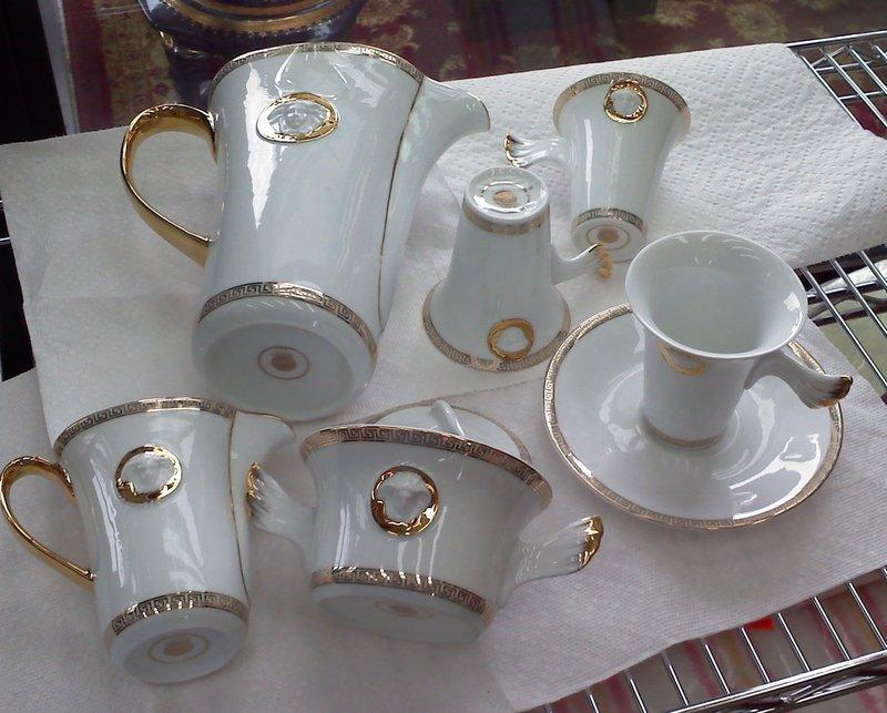 Rosenthal versace white medusa 17 piece coffee tea set - Vaisselle de luxe marque ...