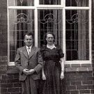 British Couple Standing in Front of Their Home - Photo #2 (1940&#39;s)