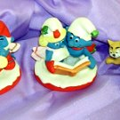 Set of 3 Smurf Figurines