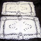 Vintage Doilies - Lace Trimmed - Set of 2 - Shipping has been REDUCED!!!