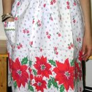 Vintage Poinsettia Apron - Shipping has been REDUCED!!!