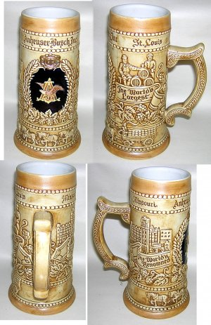 Anheuser-Busch Collectible Beer Stein -- #1