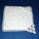 White Hankie - Hand Tatted Edging - White - Shipping has been REDUCED!!!
