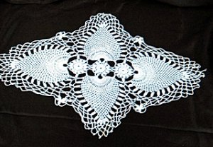 Vintage Elongated/Star Lace Doily - Shipping has been REDUCED!!!