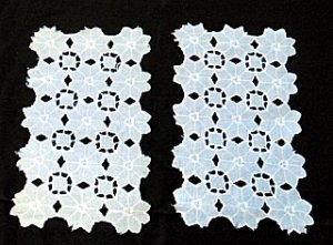 Set of 2 Vintage Rectangular � Floral Design Doilies - Shipping has been REDUCED!!!