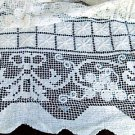 Vintage Lace tablecloth  Rectangular  72x54