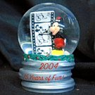 2004 Disney Snow Globe - 75 Years of Fun