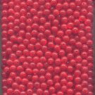 Size 8mm Acrylic Round Transparent Dark Salmon Red Fishing Beads 1000 Ct Pkg