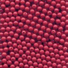 Size 8 MM Acrylic Round Opaque Salmonberry Red Beads 1000 Count