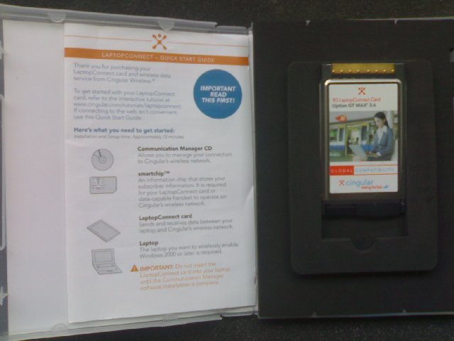 Cingular GT Max 3.6 (3.5G/3G/EDGE/GPRS) datacard - UNLOCKED/NEW (in box)
