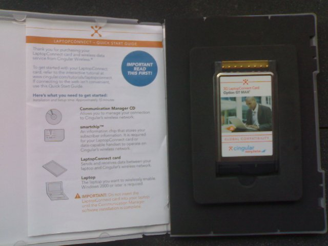Cingular GT Max 1.8 (3.5G/3G/EDGE/GPRS) datacard - UNLOCKED/NEW (in box)