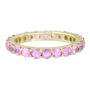 Pink Sapphire Eternity Ring 18K Yellow Gold (5ct tw) SKU: 1862-18K-YG