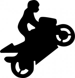 Superbike Wheelie Decal
