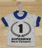 #1 Superbike Champion Mini T-Shirt With Hanger (Blue)