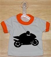 Superbike Mini T-Shirt With Hanger (Orange)