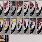 2010-11 O-Pee-Chee Base Team Set Washington Capitals 17-cards