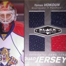 2010-11 Black Diamond Jerseys Quad #QJVO Tomas Vokoun
