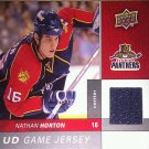 2009-10 Upper Deck Game Jerseys #GJNH Nathan Horton