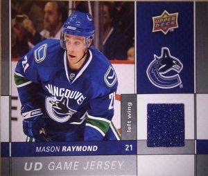 2009-10 Upper Deck Game Jerseys #GJMR Mason Raymond