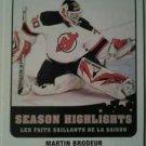 2010-11 O-Pee-Chee Season Highlights Martin Brodeur #SH9